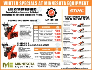 Winter Specials at Minnesota Equipment