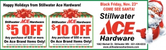 Happy Holidays from Stillwater Ace Hardware!