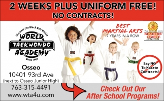 2 Weeks Plus Uniform Free!