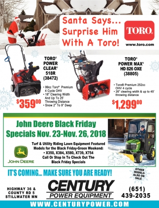 John Deere Black Friday Specials