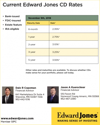 Current Edward Jones CD Rates