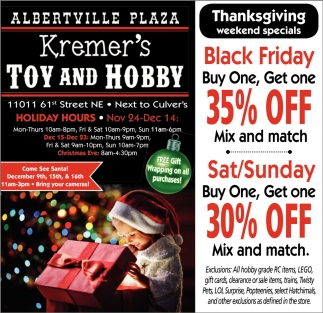 Thanksgiving Weekend Specials
