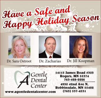 Have a Safe and Happy Holiday Season