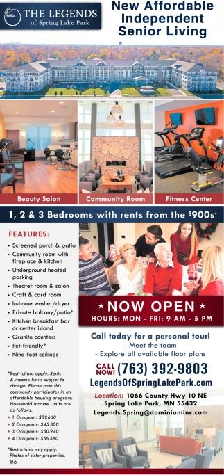 New Affordable Independent Senior Living