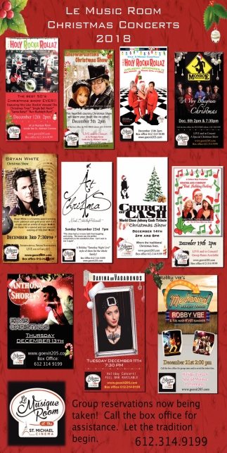Christmas Concerts!