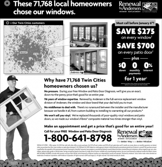 These 71.768 Local Homeowners Chose Our Windows