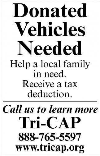 Donate Vehicles Needed