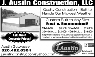 Custom Built to Any Size Fast & Economical!