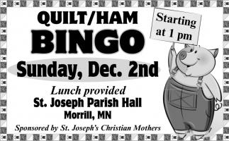 Quilt/Ham Bingo