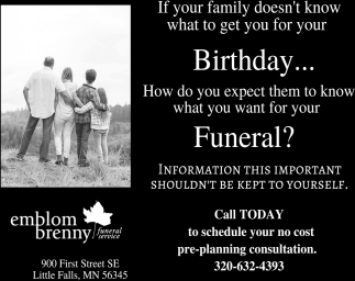 Call Today to Schedule Your no Cost Pre-planning Consultation
