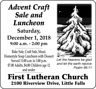 Advent Craft Sale and Luncheon