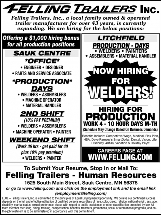 Now Hiring for Welders