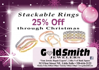 Stackable Rings 25% OFF Through Christmas