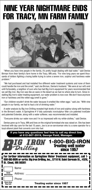 Nine Year Nightmare Ends for Tracy , MN Farm Family