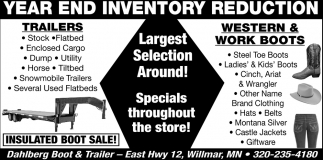 Year end Inventory Reduction