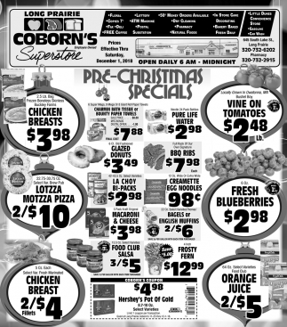 Pre-Christmas Specials