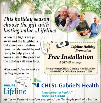 This Holiday Season Choose the Gift with Lasting Value... Lifeline!