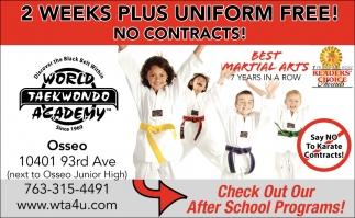 2 Weeks Plus Uniform Free!