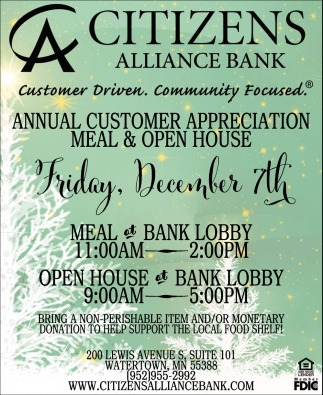 Annual Customer Appreciation Meal & Open House