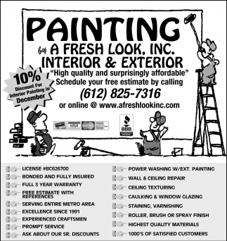 10% Discount for Interior Painting in December
