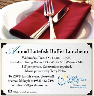 Annual Lutefisk Buffed Luncheon