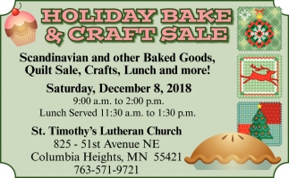 Holiday Bake & Craft Sale