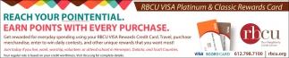 RBCU VISA Platinum & Classic Rewards Card
