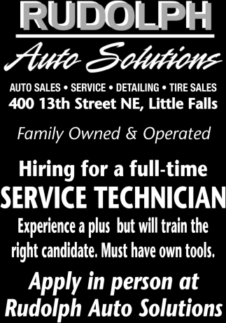 Hiring for a Full-time Service Technician