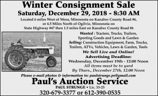 Winter Consignment Sale