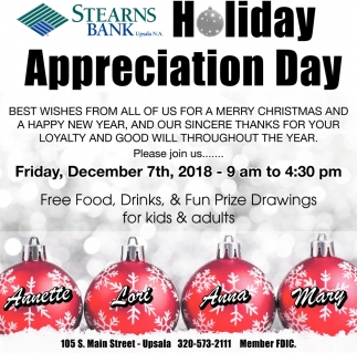 Holiday Appreciation Day