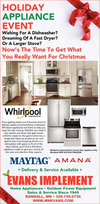 Holiday Appliance Event
