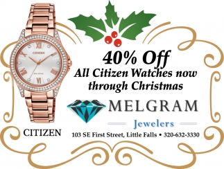 40% OFF All Citizen Watches Now through Christmas