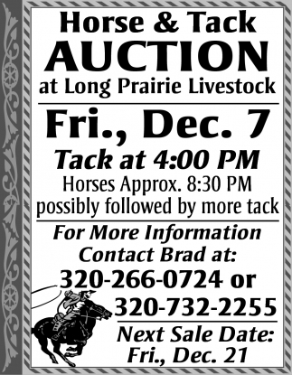 Special Horse & Tack Auction