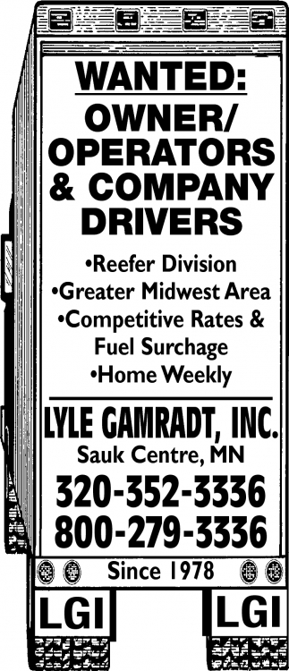 Wanted: Owner/Operators & Company Drivers