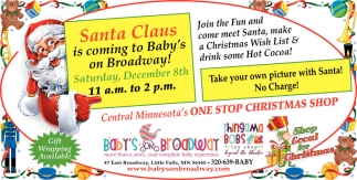 Santa Claus is Coming to Baby's on Broadway!