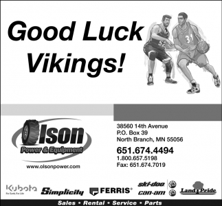 Good Luck Vikings!