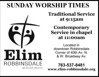 Sunday Worship Times