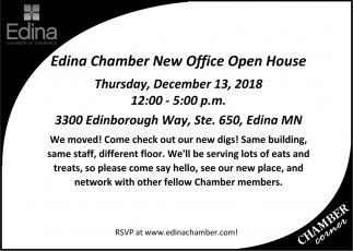 Edina Chamber New Office Open House