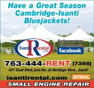 Have a Great Season Cambridge-Isanti Bluejackets!