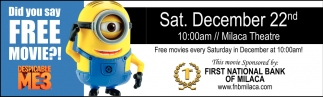 Did You Say FREE Movie?!