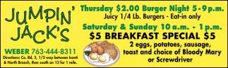 $5 Breakfast Special $5