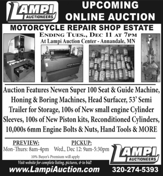 Upcoming Online Auction