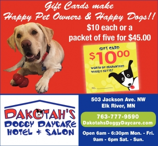 Gift Cards Make Happy Pet Owners & Happy Dogs!
