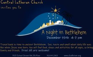 A Night In Bethlehem Central Lutheran Church Elk River Mn