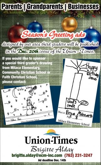 Season's Greeting Ads