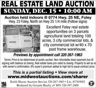 Real Estate Land Auction