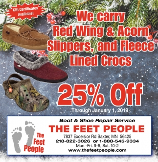 We Carry Red Wing & Acorn Slippers and Darn Tough Socks