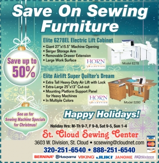 Save On Sewing Furniture