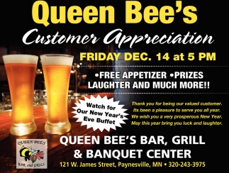 Queen Bee's Customer Appreciation