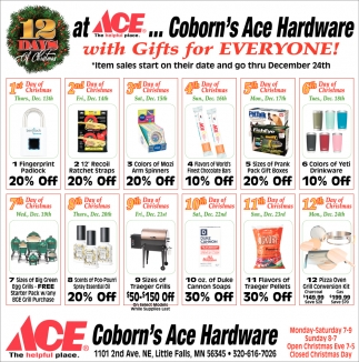 12 Days of Christmas at Corbon's Ace Hardware